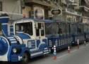 Με το τρενάκι και τα λεωφορεία του Αστικού ΚΤΕΛ στο πανηγύρι