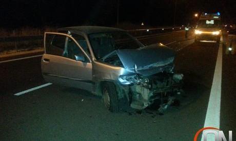 Το πρώτο (ευτυχώς χωρίς συνέπειες) ατύχημα στον νέο δρόμο