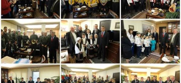 Κάλαντα και ανταλλαγή ευχών στην Περιφέρεια Θεσσαλίας