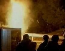 Εκαψαν τα διόδια στη Μαλακάσα