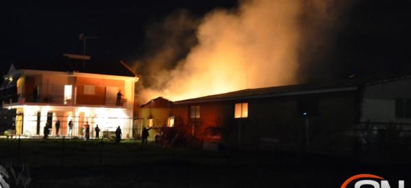 Πυρκαγιά σε βιοτεχνία ξυλείας στην Οιχαλία απειλεί σπίτια