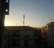 Κεραία πάνω από φροντιστήρια στο κέντρο των Τρικάλων