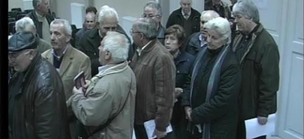 Αγανάκτησαν οι τρικαλινοί συνταξιούχοι ΟΑΕΕ και ΙΚΑ