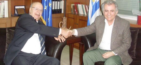Επίσκεψη του Προέδρου της Ελληνικής Ομοσπονδίας Καλαθοσφαίρισης στο Δήμαρχο Τρικκαίων