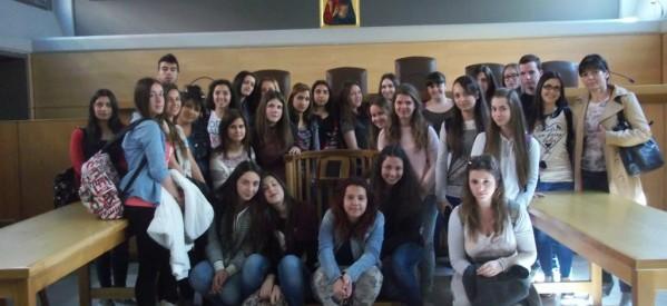 Επίσκεψη μαθητών του 1ου Γελ στο δικαστικό μέγαρο
