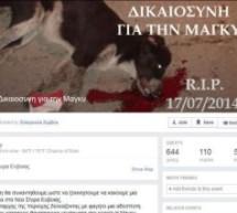 Νέα Στύρα Ευβοίας: Διαδήλωση για την αδέσποτη Μάγκυ