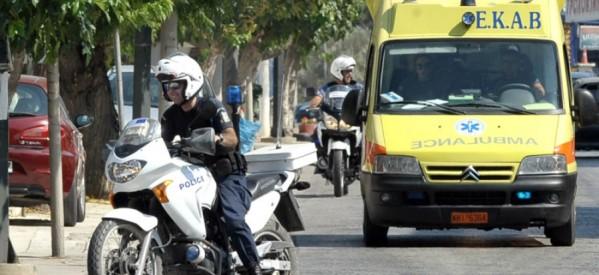 Τρίκαλα – Σκοτώθηκε γυναίκα πέφτοντας από τον φωταγωγό πολυκατοικίας !