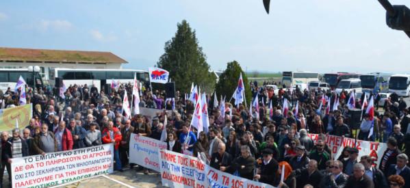 Εικόνες από το συλλαλητήριο των αγροτών στο Κιλελέρ