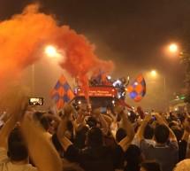 Ντελίριο ενθουσιασμού στην κεντρική πλατεία των Τρικάλων