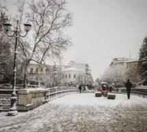 Τρίκαλα: Χιόνια και παγετός