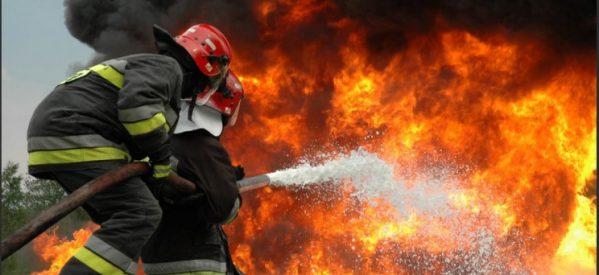 Μάχη για να μη μπει η φωτιά στο χωριό Δίρβη δίνει η πυροσβεστική στη Λαμία