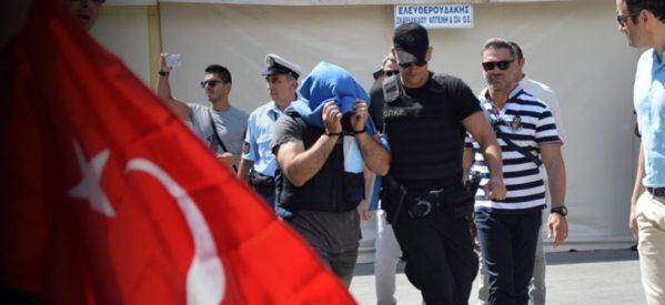 Ποινές με αναστολή στους «8» Τούρκους στατιωτικούς
