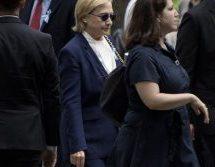 «Κατέρρευσε» η Χίλαρι στην τελετή της 11/9 – Έφυγε άρον άρον και υποβασταζόμενη