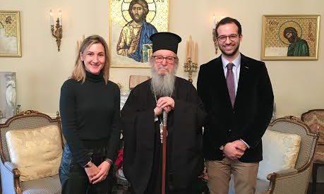 Στον Αρχιεπίσκοπο Αμερικής κκ Δημήτριο ο Μικέλης και η Αγγελική