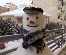 Γαρδικιώτης μάγκας χιονάνθρωπος