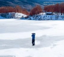 Trikala.. Παγωμένη η λίμνη Λογγά..