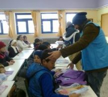 Oι εκπαιδευτικοί του ΠΑΜΕ καλωσόρισαν τα προσφυγόπουλα στο 25ο Δημοτικό Σχολείο Τρικάλων