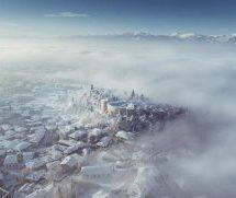Eνα εντυπωσιακό βίντεο με drone στα χιονισμένα Τρίκαλα
