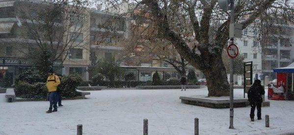 Έρχεται  νέα ισχυρή χιονοπτώση στα Τρίκαλα