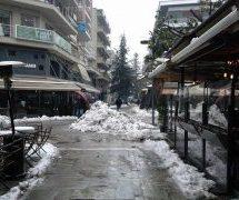 Σύντομη βόλτα στα χιονισμένα Τρίκαλα