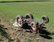 Νεκρός αγρότης που καταπλακώθηκε από τρακτέρ