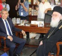 Συνάντηση του Αρχιεπισκόπου Τιράνων, Δυρραχίου και πάσης Αλβανίας Αναστάσιου με τον Πρόεδρο της ΕΝΠΕ Κώστα Αγοραστό
