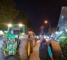 Μπλόκο Τρικαλινών αγροτών στον αυτοκινητόδρομο Ε65