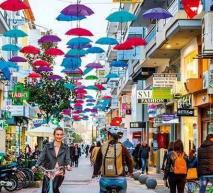 Τρίκαλα – O δρόμος με τις πολύχρωμες ομπρέλες