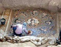 Μωσαϊκό τουλάχιστον 1.600 ετών ανακάλυψαν αρχαιολόγοι στον ιστορικό ναό της Παναγίας στο Ορταχισάρ της Τραπεζούντας
