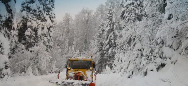 Πολύ χιόνι στα ορεινά των Τρικάλων