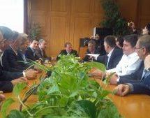 Επίσκεψη του βουλευτή της ΝΔ Κώστα Καραμανλή στα Τρίκαλα και την Καλαμπάκα