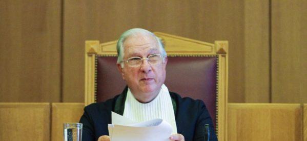 Παραιτήθηκε ο πρόεδρος του ΣτΕ: Εξαπέλυσε δριμύ κατηγορώ στην κυβέρνηση για την μείωση των συντάξεων
