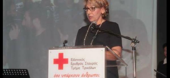 Ο Ερυθρός Σταυρός Τρικάλων, συγχαίρει τη Τζένη Λιάγκα