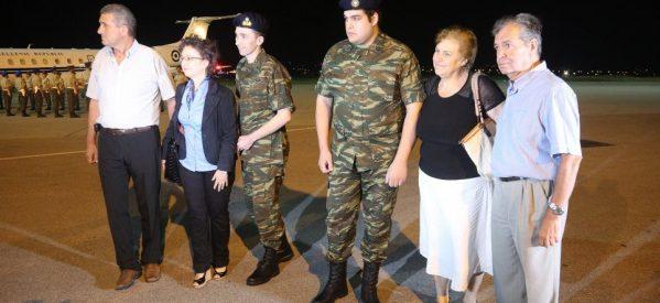 Στην Ελλάδα οι δύο Έλληνες στρατιωτικοί