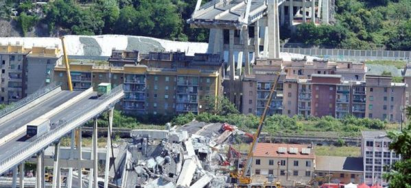 Ενός λεπτού σιγή για τα θύματα στην Γένοβα