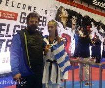 Τα Τρίκαλα υποδέχθηκαν την Ολυμπιονίκη Φένια Τζέλη