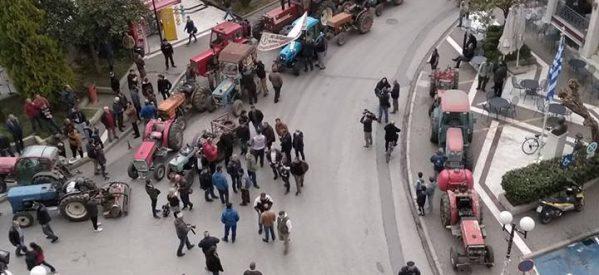 Συλλαλητήριο αγροτών στον Τύρναβο