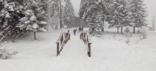 Ενα μέτρο…..και συνεχίζει – Χιονοδρομικό Κεντρο Περτουλίου [ εικόνες ] .
