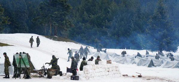 Χειμερινές ασκήσεις της ΣΜΥ στο Περτούλι