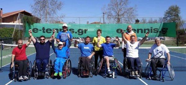 Ολοκληρώθηκε με επιτυχία το 2ο wheelchair tennis camp