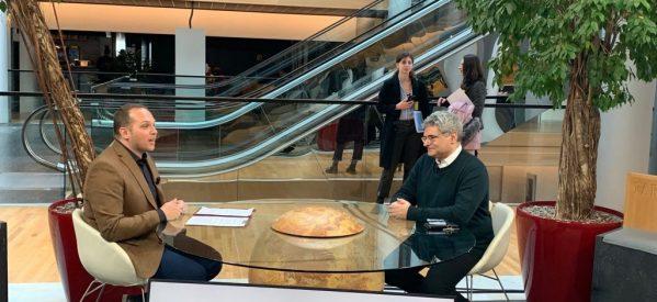 Ο ευρωβουλευτής Μιλτιάδης Κύρκος στα ΘΕΣΣΑΛΩΝ ΔΡΩΜΕΝΑ με τον Κώστα Κωστούλα