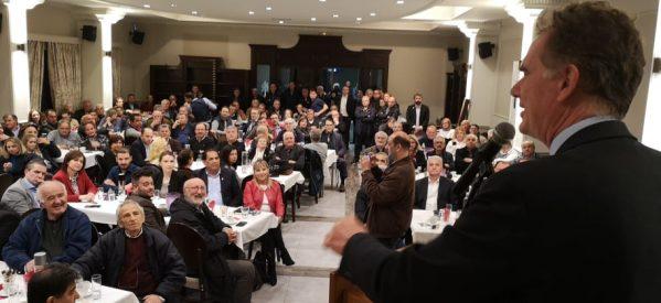 Νίκος Παπανδρέου από τα Τρίκαλα: «Το Πασοκ είναι εδώ ενωμένο δυνατό»