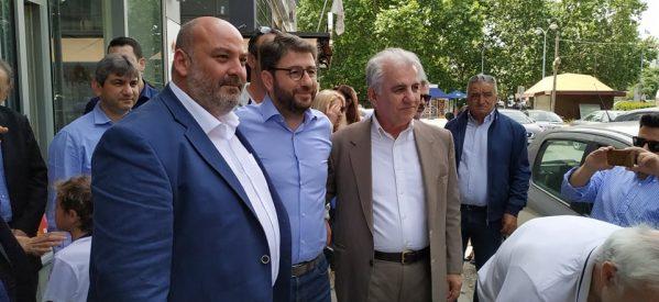 Επίσκεψη του Νίκου Ανδρουλάκη στα Τρίκαλα