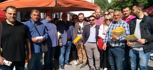 Στη λαϊκή αγορά  ο υποψήφιος Δήμαρχος Τρικκαίων Κώστας Κρεμμύδας