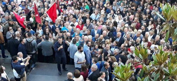 Αλέξης Τσίπρας από τα Τρίκαλα:«Δεν είναι μόνο ένα ρεύμα νίκης, είναι ένα γνήσιο λαϊκό ξέσπασμα, δημοκρατικό ξέσπασμα, ένα ξέσπασμα αξιοπρέπειας»