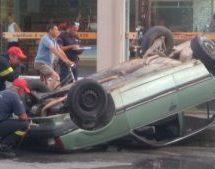 Tρίκαλα – σφοδρή σύγκρουση δυο οχημάτων [εικόνες]