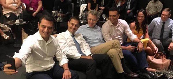Ο Σκρέκας  είδε το Ελλάδα-ΗΠΑ με Πάιατ ,  Κικίλια , Θεοχάρη