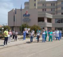 Καθολική συμμετοχή των εργαζομένων του νοσοκομείου στη στάση εργασίας