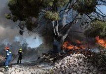 Μεγάλη φωτιά για δεύτερη φορά στην Κάρυστο