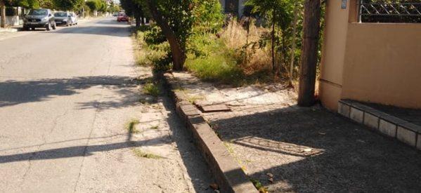 """""""Έξυπνα πεζοδρόμια"""" στην Αρριανού"""